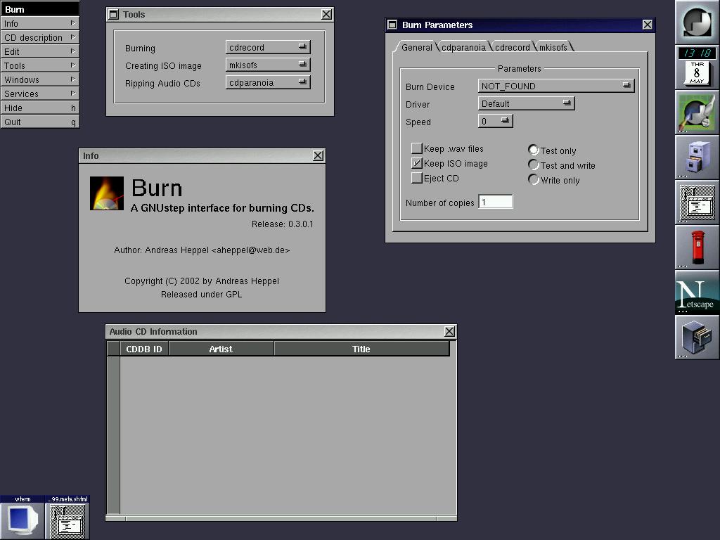 lf299, Applications: Die GNUstep